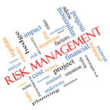Risk Management Word Cloud Concept Angled Stock Photography
