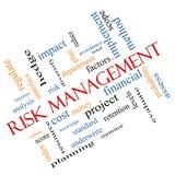 Risk Management Word Cloud Concept Angled vector illustration