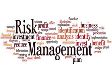 Risk Management, word cloud concept 8. Risk Management, word cloud concept on white background Stock Photos