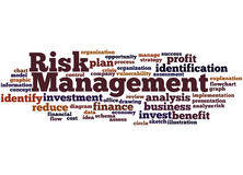 Risk Management, word cloud concept. On white background Royalty Free Stock Image