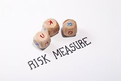 Risk measure Royalty Free Stock Image