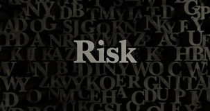 Risk - metallisk 3D som framfördes, satte rubrikillustrationen Royaltyfri Fotografi