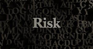 Risk - metallisk 3D som framfördes, satte rubrikillustrationen Royaltyfria Foton