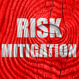 Risk mitigation sign. With some smooth lines and highlights Royalty Free Stock Photo