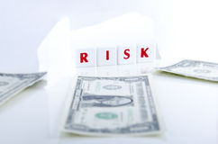 RISK AND MONEY Royalty Free Stock Photos