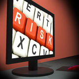 Risk On Monitor Shows Unstable Situation Stock Photo