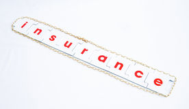 Risk: the need for insurance. Stock Photo