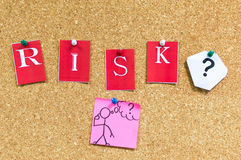 Risk or not to risk Royalty Free Stock Images