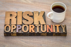 Risk and opportunity word abstract Royalty Free Stock Photos