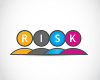 Risk. People colorful abstract background Royalty Free Stock Images
