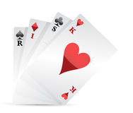 Risk poker card hand illustration design Royalty Free Stock Images