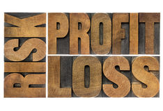 Risk, profit, loss - word abstract Royalty Free Stock Image