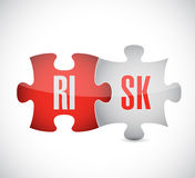 Risk puzzle illustration design. Over a white background Stock Image