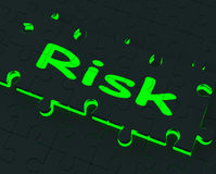 Risk Puzzle Shows Danger And Unsafe Royalty Free Stock Image