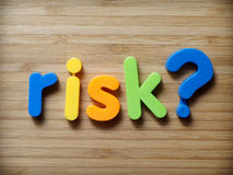 Risk question concept Stock Photo