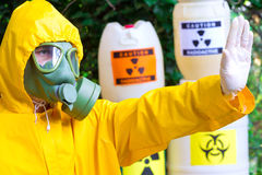 Risk of radiation Stock Photography