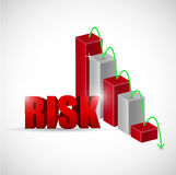 risk red business graph illustration design Royalty Free Stock Images