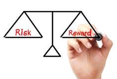 Risk and reward balance Royalty Free Stock Photos