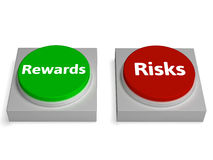 Risk Reward Buttons Shows Risks Or Rewards Stock Photo
