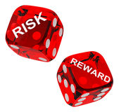 Risk and reward dices Stock Photography