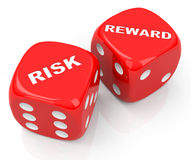 Risk and reward dices Royalty Free Stock Photos