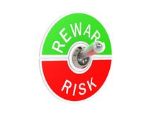 Risk reward toggle switch Stock Photography