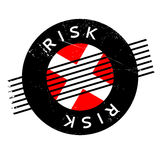 Risk rubber stamp Royalty Free Stock Image