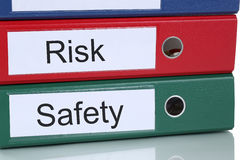 Risk and safety management analysis in company business concept Stock Image