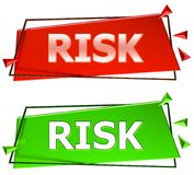 Risk sign Royalty Free Stock Photo