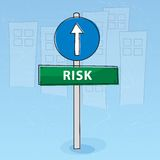 Risk signpost Stock Image