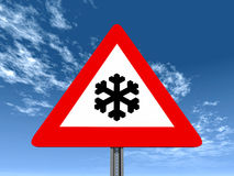 Risk of Snow or Ice Royalty Free Stock Image