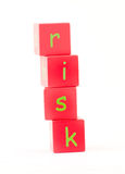 Risk Spelt out in letters Stock Images