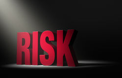 Risk In The Spotlight Stock Images