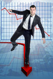 Risk statistics Stock Image