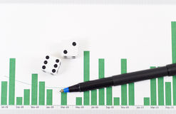Risk in Stock Market Royalty Free Stock Photo