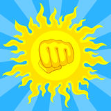 Risk of sunstroke at hot season Stock Photos