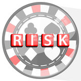 RISK TABLE GAMES CONCEPT. FISH POKER. RED Stock Photography
