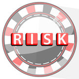 RISK TABLE GAMES CONCEPT. FISH POKER. RED. wheel of Fortune Stock Photos
