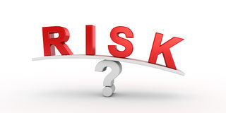 Risk text balancing on question Stock Photography