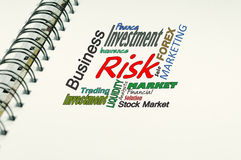 Risk text - Business Concept Stock Photo