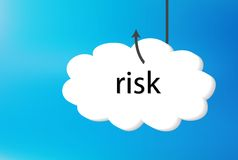 Risk text cloud on blue back ground Stock Image