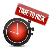 Risk time concept clock. Illustration design over white Royalty Free Stock Photo
