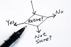The risk to take the retirement Royalty Free Stock Photo