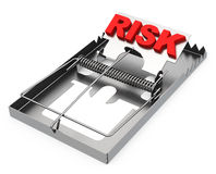 The risk trap. 3d generated picture of a risk trap royalty free illustration