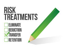 Risk treatment checklist illustration design Stock Image