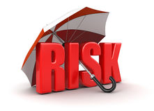 Risk under Umbrella (clipping path included) Royalty Free Stock Photo
