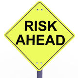 Risk upcoming ahead Stock Image