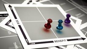 Risk vs Benefit Assessment vector illustration