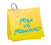 Risk vs reward post illustration design vector illustration