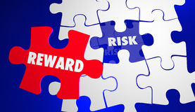 Risk Vs Reward ROI Return Investment Puzzle Royalty Free Stock Images